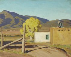 Maynard Dixon (1875-1946)  Signs of Autumn, New Mexico September, 1931  Oil on canvas, 16 x 20 inches