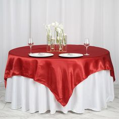 12 Pcs Overlay 58 X 58 Square Polyester Tablecloth Wholesale Seamless 50 Colors