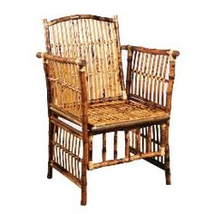 Handmade rattan and bamboo accent chair. Product: ChairConstruction Material: Rattan and bambooColor: TortoiseDimensions: 39 H x 24 W x 26 D Bamboo Furniture, Funky Furniture, Home Furniture, Outdoor Furniture, Bamboo Chairs, Outdoor Chairs, Outdoor Decor, Club Chairs, Rattan