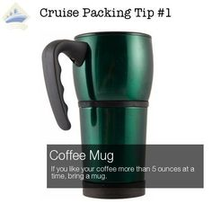 what to pack for a cruise - coffee mug