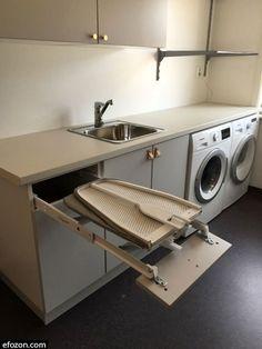 Laundry Room Layouts, Laundry Room Remodel, Laundry Room Cabinets, Small Laundry Rooms, Laundry Room Organization, Basement Laundry, Laundry Cupboard, Laundry Closet, Laundry Tips