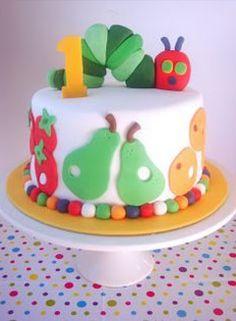 1st birthday cake - hungry caterpillar