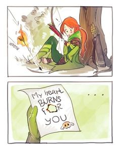 Windranger receives a love letter from Clinkz...