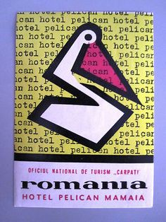Hotel Pelican Luggage Label Mamaia Romania | eBay