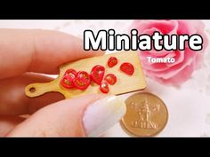 미니어쳐 토마토 만들기 Miniature * Tomato - YouTube