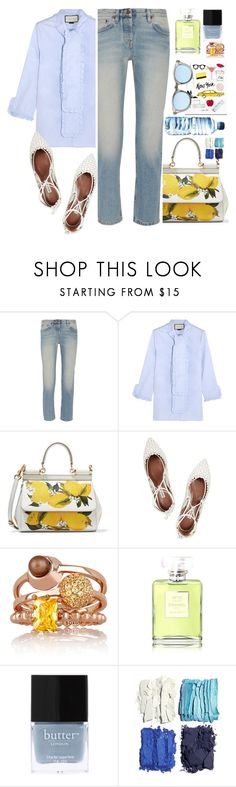 """""""My Mood Today"""" by lidia-solymosi ❤ liked on Polyvore featuring The Row, Gucci, Dolce&Gabbana, Tabitha Simmons, Eddie Borgo, Chanel, Butter London, Garance Doré, Illamasqua and Sunpocket"""