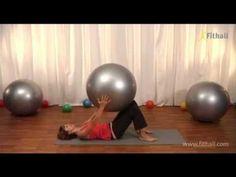 Pilates na lopte pre začiatočníkov - YouTube