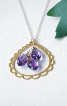 February Birthstone Amethyst Jewelry Purple