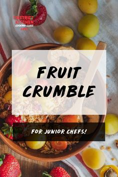 Join Chef Alexandra in making fruit crumbles! These delicious desserts are a perfect summer treat, and can easily be made as a back to school snack. Fruit Crumble, Crumble Recipe, School Snacks, Summer Treats, Cooking Classes, Delicious Desserts, Snack Recipes, Chips, Join