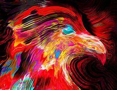 Wild Hawk by Abstract Angel Artist Stephen K Alien Artist, Real Genius, Digital Art, Angel, Wall Art, Abstract, Summary, Wall Decor, Angels