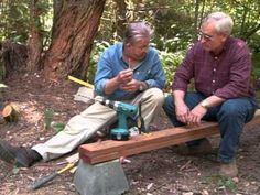 Learn how to build a wooden foot bridge including how to laminate beams and assemble decking and rails. Home improvement expert Ron Hazelton will walk you th. Garden In The Woods, Lawn And Garden, Lost Stars, Small Yards, Common Ground, Wood Bridge, Building Ideas, Yard Ideas, Garden Bridge