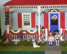 Quarter Scale Minis -Americana kit by Suzanne and Andrew.
