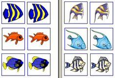 Vissen memory » Juf Sanne The Ocean, Ocean Animal Crafts, Shark Tale, Matching Cards, Splish Splash, Under The Sea, Habitats, Activities For Kids, Preschool