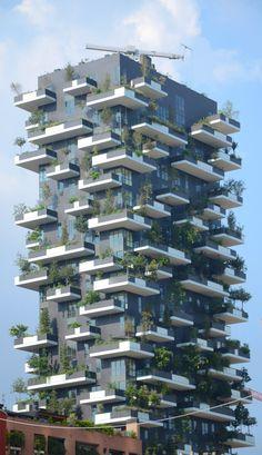 Bosco Verticale in Milan, designed by Stefano Boeri Architetti.