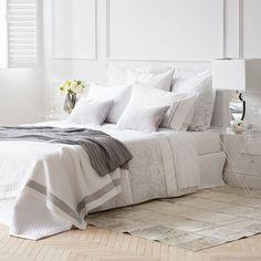 tagesdecke und kissenbezug aus baumwolle mit geometrischem motiv tagesdecken schlafen zara. Black Bedroom Furniture Sets. Home Design Ideas