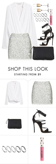 """NYE 2016"" by keisha-xo ❤ liked on Polyvore featuring H&M, Topshop, Dsquared2, ASOS and Rogaska"