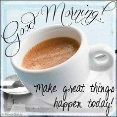 Good morning! Make great things happen today! #TalkItUpTV
