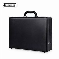 [ $22 OFF ] Luxury Leather Mens Attach Briefcase Expandable Laptop Case With Combination Lock Multifunctional Toolbox Fashion Suitcase Black