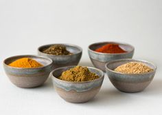 Spice Bowls / Soy Sauce Dish / Mini Dipping by MadAboutPottery
