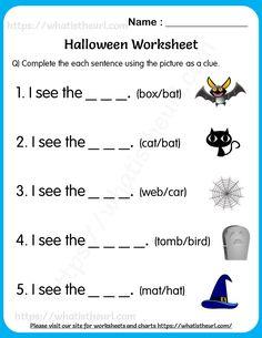 Halloween Worksheets for Grade 1