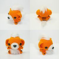 Growlithe by Heartstringcrochet