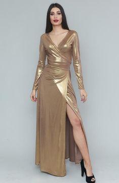 Kiren Gold Dress