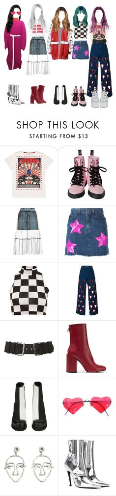 """Girl group"" by beyzalwaysperf ❤ liked on Polyvore featuring Gucci, Raf Simons, Topshop, Au Jour Le Jour, Parisian, Ashish, Petar Petrov, Forfex, Lindberg and MANGO"