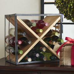 Found it at Wayfair - Cross Tabletop Wine Rack