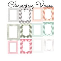 Digital Download Chevron Frames Borders by ChangingVases on Etsy, $2.50