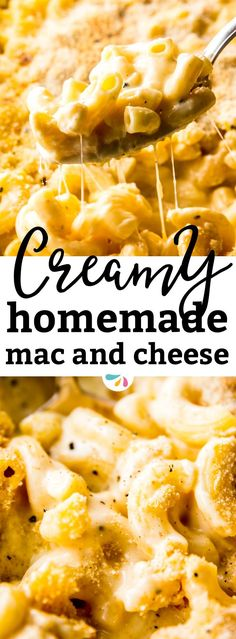 This homemade baked mac and cheese is SO creamy, you won't believe it is made without any processed cheese spread/Velveeta or any other artificial ingredients! It's an easy enough recipe that starts on the stove top and then ends as the classic casserole in the oven. The from scratch sauce is made with a healthy dose of cheese and Greek yogurt and is loaded with cheesy flavors. The best comfort food side dish ever! | #recipes #comfortfood #macandcheese #cheese #dinnertime #family…