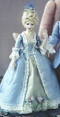 Dollhouse Miniature Doll Woman Granny Reading 1:12 scale N36 Dollys Gallery