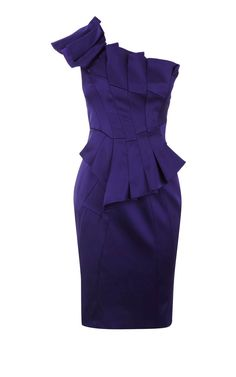 Karen Millen Asymmetric Satin Dress, love the cut, love the color