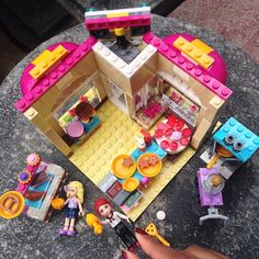 Just finished building my first #legofriends #bakeryshop. Do you see the love (heart) shape? Cute isn't it?  #lego #legostagram #legofriendsbakery #bricksaddiction #instagood #legominifigures #epiclegolover #minifig #Legoland #legophotography #instalego #legofreak #legoindonesia #legostory