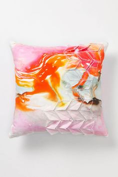 Blurred Geology Pillow, Large Square - Anthropologie.com