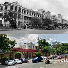 SAN BEDA UNIVERSITY  Location: Mendiola St., San Miguel Manila Philippines Wayback 1945*Was established By Spanish Benedictine monk Fr. Juan Sabater*Inauguration of San Beda on June 17, 1901*San Beda University former name El Colegio De San Beda*San Beda was started as an all-boys grade school in manila (Mendiola)*Was recognized University since February 6, 2018*Some of Notable alumni of San Beda are Rodrigo Duterte / Dingdong Dantes / Leila de Lima / Leni Robredo / Francis M and Enrique Gil Philippines Culture, Manila Philippines, Benedictine Monks, Philippine Holidays, Filipino Culture, Before And After Pictures, Pinoy, Old Photos, Past