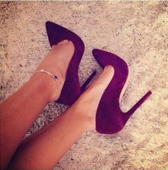 Imagem de shoes, heels, and purple