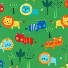 Jungle Creatures Bright Lions and Tigers