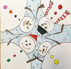 This is a fun project I came across on Artsonia by Blue Mountain Elementary students. I love the different perspective and that each picture can still be individualized. I've shared pictures of the...