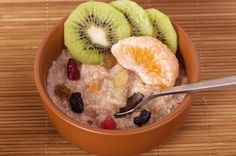 Mixed Fruit Medley with Cinnamon Oatmeal