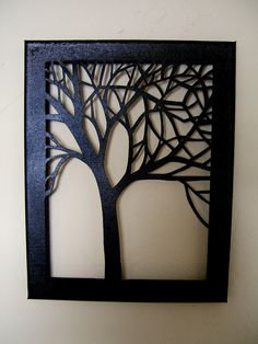 Tree Silhouette Cut Canvas by NineRed on Etsy, $32.00