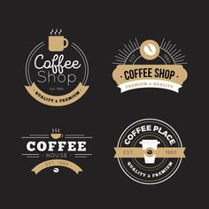 Retro Logo Psd Mug - Free retro logo set by. The templates are available in either photoshop or illustrator formats and most of them are free to use for both personal and . Cafe Logo, Logo Café, Logo Type, Retro Cafe, Café Retro, Coffee Shop Logo, Coffee Shop Design, Cafeteria Retro, Lounge Logo