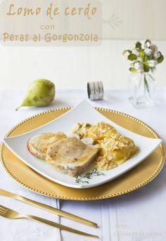 Olivas en la cocina: Lomo de cerdo con peras al Gorgonzola Cupcakes, Kitchenaid, Carne, Cooking, Breakfast, Recipes, Food, Pork Loin, Essen