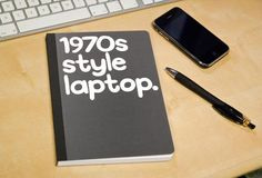 1970′s Style Laptop Notebook - $13