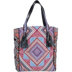 Antik Batik Handbag (¥8,080) ❤ liked on Polyvore featuring bags, handbags, garnet, leather handbags, man bag, real leather handbags, multi colored leather handbags and handbag purse