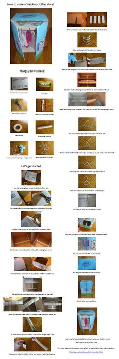 How to Make a Webkinz Clothes Closet - Step By Step Instructions - Video - Click Here for Full Size PDF -  http://wheretobuywebkinz.karensherrill.net/webkinz-clothes/how-to-make-a-webkinz-clothes-closet