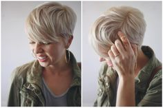 mom style, 5 friday confessions, ethical fashion, slow fashion, minimalist wardrobe, short hair, pixie haircut, blonde hair