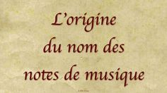 L'origine du nom des notes de musique Note, Arabic Calligraphy, Chant, Violin, Guitar, Arabic Calligraphy Art