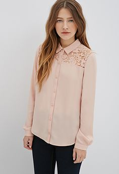 Floral Lace-Paneled Top | FOREVER 21 - 2000117151