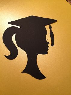 Please read before ordering!***Girl Silhouette head Please read before ordering!***Girl Silhouette head without the year and pearls…please order 5 or more…. Due to postage… Thank you! Graduation Party Centerpieces, Graduation Cookies, Graduation Decorations, Graduation Party Decor, Graduation Photos, Graduation Cards, Grad Parties, Graduation Ideas, Graduation Silhouette