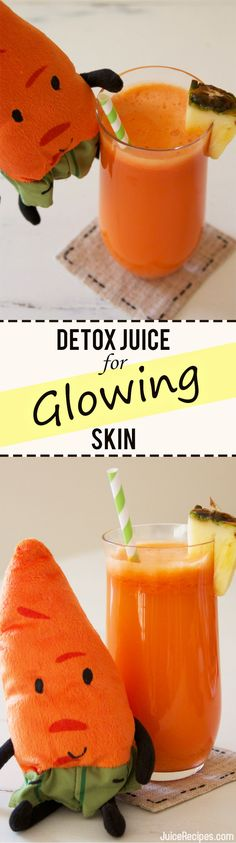 Sweet Satin Detox Juice for beautiful glowing skin, from JuiceRecipes.com. garlic detox drinks